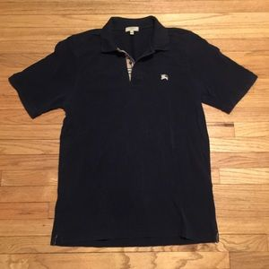 Burberry navy s/s classic polo shirt - Large